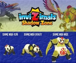 Układanka Xiong Mao Cub, Xiong Mao Scout, Xiong Mao Max. Invizimals Następny wymiar. Ten gigantyczny stwór jest pierwszym opiekunem grobu Cesarza Smoka