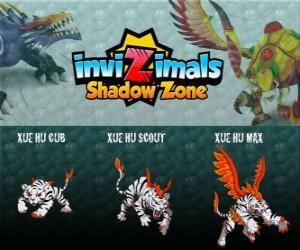 Układanka Xue Hu Cub, Xue Hu Scout, Xue Hu Max. Invizimals Następny wymiar. Biały tygrys nieba jest czwartym strzegli grobu Cesarza Smoka i najpotężniejszych