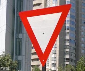 Układanka Yield sign