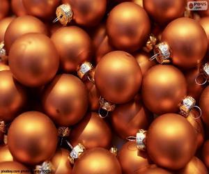 Układanka Złotą piłkę Bożego Narodzenia