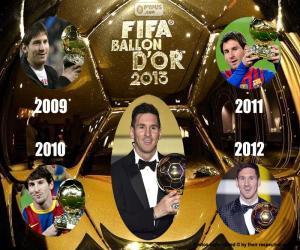 Układanka Złota Piłka FIFA 2015
