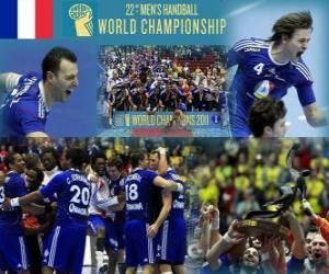 Układanka Złoty Medal Francja 2011 świata w piłce ręcznej