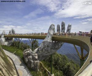 Układanka Złoty Most Da Nang, Wietnam