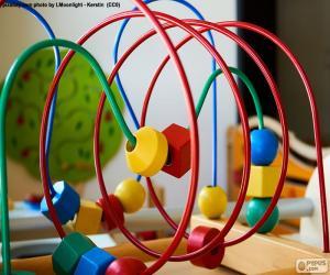 Układanka Zabawki drewniane i metalowe