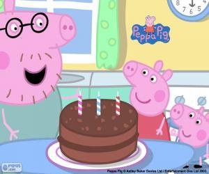 Układanka Zadowolony urodziny Peppa Pig