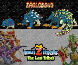 Układanka Zaglossus, najnowszej ewolucji. Invizimals Zaginione Plemiona. Invizimal przypomina Jeżozwierz