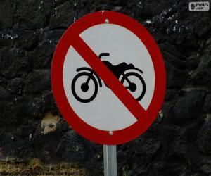 Układanka Zakazanych motocykli sygnału