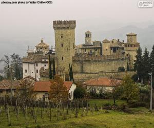 Układanka Zamek Vigoleno, Włochy