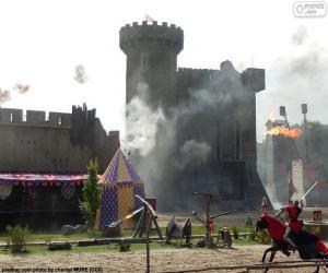 Układanka Zamek w średniowieczu