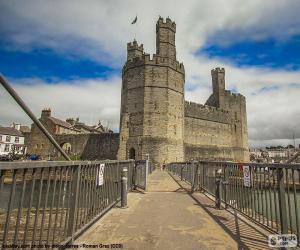 Układanka Zamek w Caernarfon, Walia