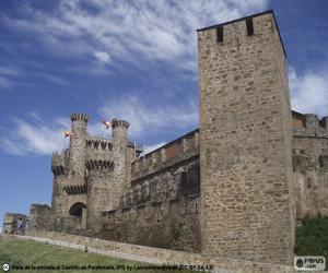 Układanka Zamek w Ponferrada, Hiszpania