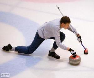 Układanka Zawodnik curling