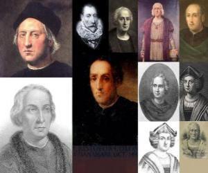 Układanka Zdjęcia Krzysztofa Kolumba był admirał dowodził wyprawą, że przybył do Ameryki w 1492 roku