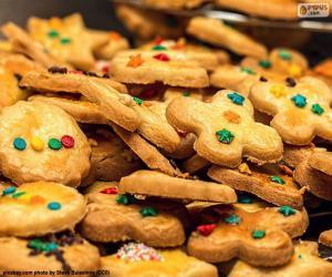 Układanka Zdobione ciasteczka, Boże Narodzenie