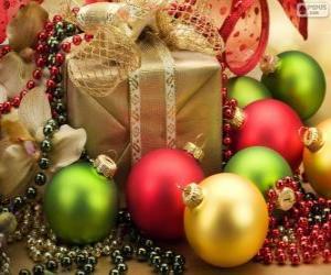 Układanka Zdobione prezent na Boże Narodzenie