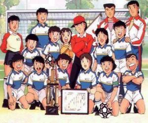 Układanka Zespół Captain Tsubasa z trophy