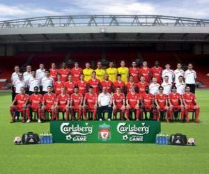Układanka Zespół Liverpool FC 2009-10