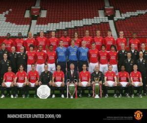 Układanka Zespół Manchester United FC 2008-09
