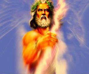 Układanka Zeusa, greckiego boga nieba i piorunów i król bogów olimpijskich