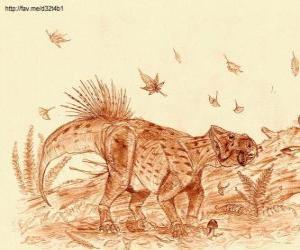 Układanka Zhuchengceratops, który żył na końcu okresu kredowego, około 75 mln lat temu