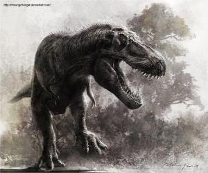 Układanka Zhuchengtyrannus jest jednym z największych dinozaurów mięsożerne