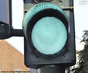 Układanka Zielone światło drogowe