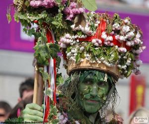 Układanka Zielony człowiek, karnawał