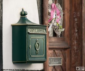 Układanka Zielony list prywatny pudełko