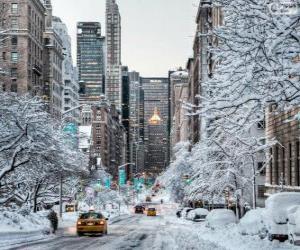 Układanka Zima w Nowym Jorku