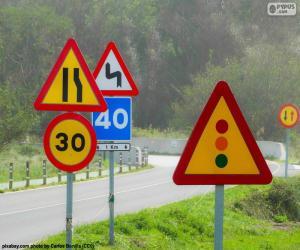 Układanka Znaki drogowe