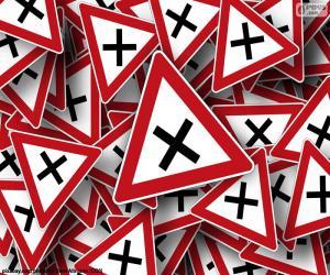 Układanka Znaki pionowe skrzyżowanie
