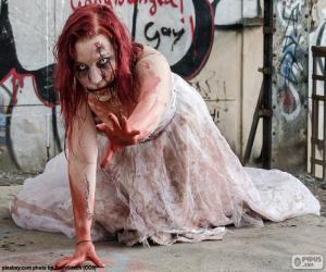 Układanka Zombie, Halloween