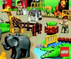 Układanka Zoo z Lego