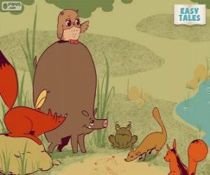 Układanka Zwierzęta leśne decydowania ścieżki kariery