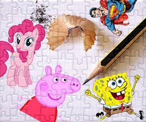 Puzzle Postaci z kreskówek