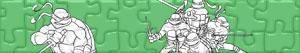 Puzzle Żółwie Ninja
