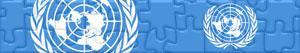 Puzzle Flagi i Logos Narodów Zjednoczonych - ONZ