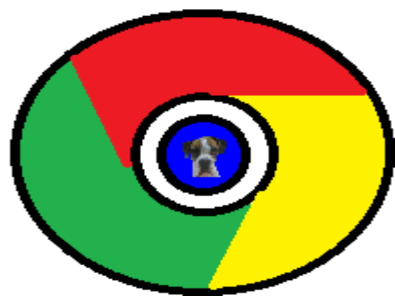 black-circle-with-colors-red-green-and-yellow-and-dog-logo-quiz-by-bubble puzzle